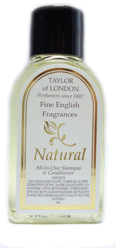 Taylor of London Natural 30ml Bottle Conditioner & Shampoo